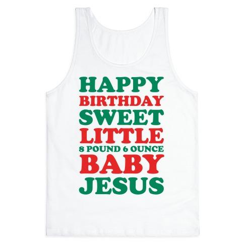 Happy Birthday Sweet Little Baby Jesus 72232-2408whi
