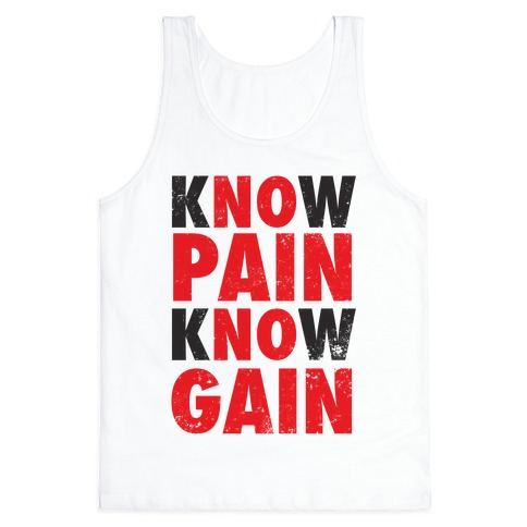 Know Pain Know Gain (No Pain No Gain) (Tank) 13348-2408whi