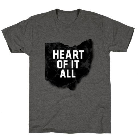 Ohio Heart Of It All T Shirts Tank Tops Sweatshirts