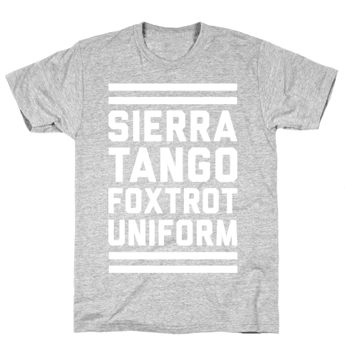 Sierra Tango Foxtrot Uniform (Military T-Shirt) Mens T-Shirt