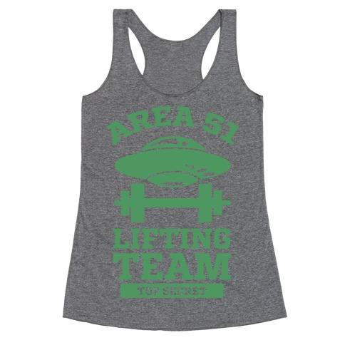 Area 51 Lifting Team Racerback Tank Top