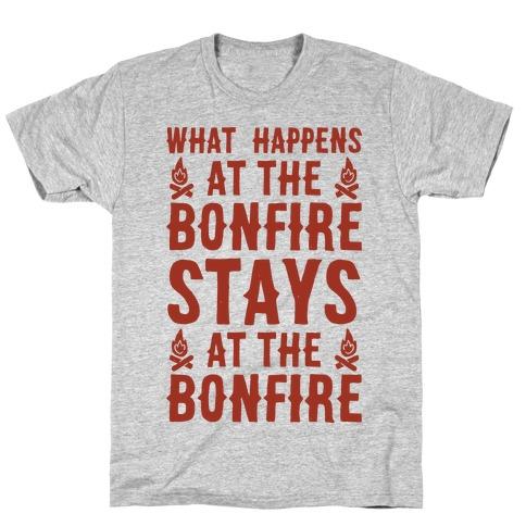 What Happens At The Bonfire Mens T-Shirt