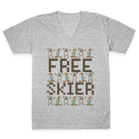 Skied Too Long V-Neck Tee Shirt