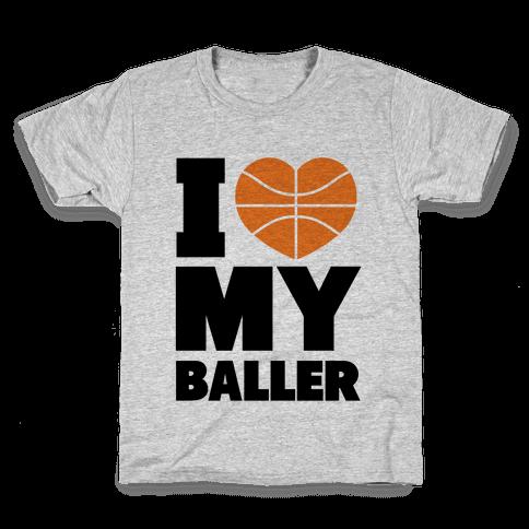 I Love My Baller Kids T-Shirt