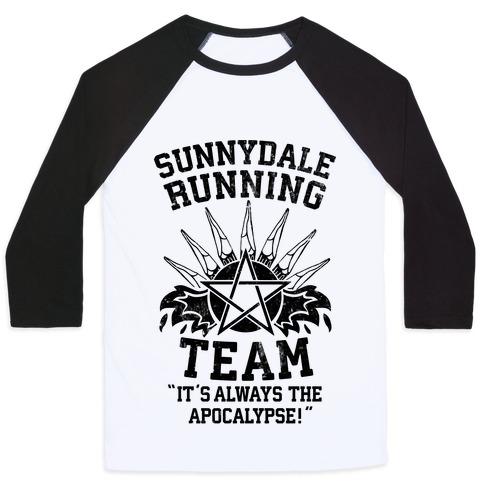 Sunnydale Running Team Baseball Tee