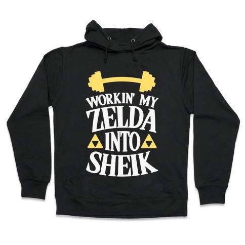 Workin' My Zelda Into Sheik Hooded Sweatshirt