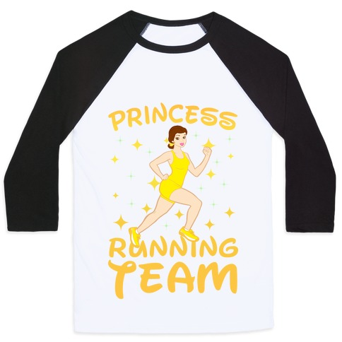 Princess Running Team (Yellow) Baseball Tee