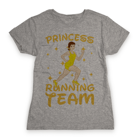 Princess Running Team (Yellow) Womens T-Shirt