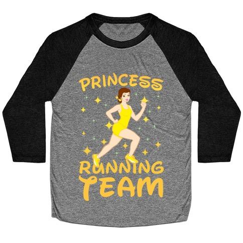 Princess Running Team (Yellow) Baseball Tee