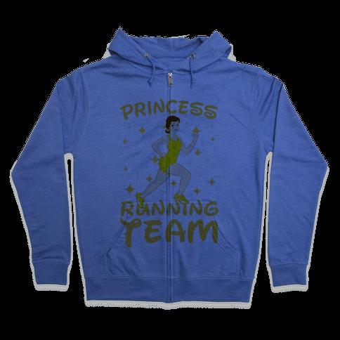 Princess Running Team (Yellow) Zip Hoodie