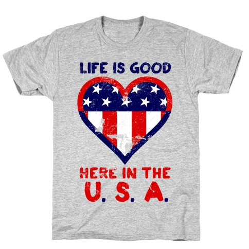Life is Good in the USA Mens/Unisex T-Shirt