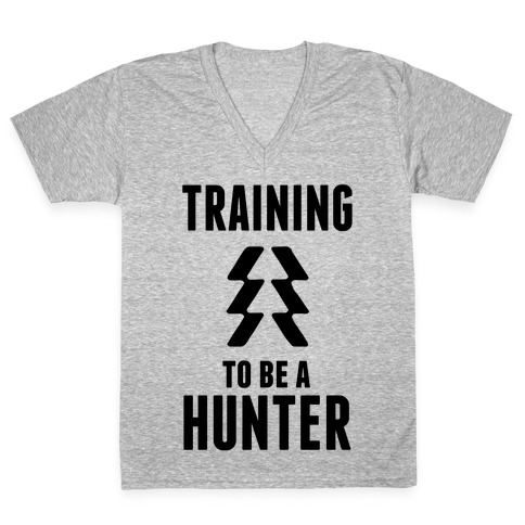 Training To Be A Hunter V-Neck Tee Shirt