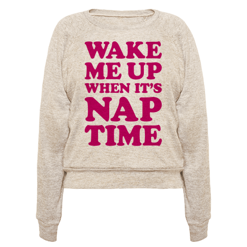 Wake Me Up When Its Nap Time