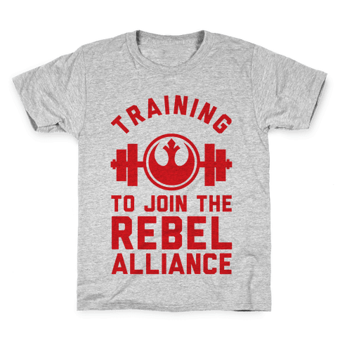 Training To Join The Rebel Alliance Kids T-Shirt