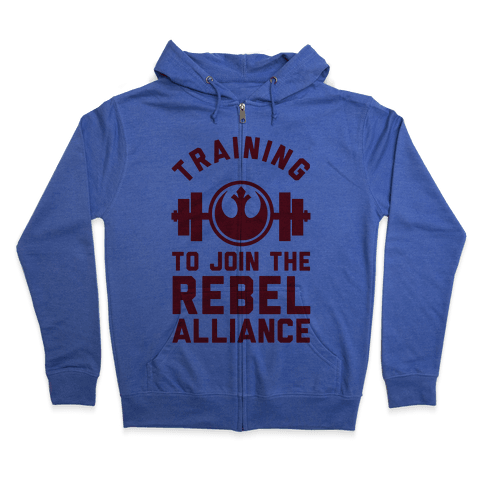 Training To Join The Rebel Alliance Zip Hoodie