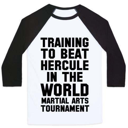 Training to Beat Hercule in the World Martial Arts Tournament Baseball Tee