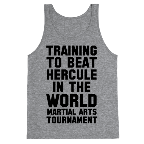 Training to Beat Hercule in the World Martial Arts Tournament Tank Top