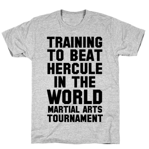Training to Beat Hercule in the World Martial Arts Tournament Mens/Unisex T-Shirt