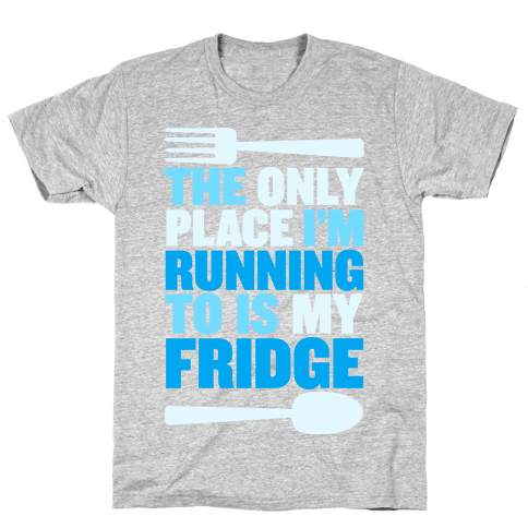 Running to My Fridge Mens T-Shirt