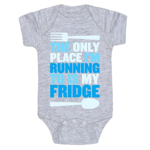 Running to My Fridge Baby Onesy