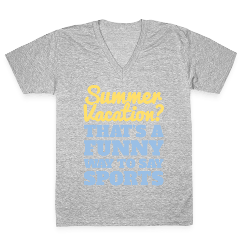 Summer Sports V-Neck Tee Shirt
