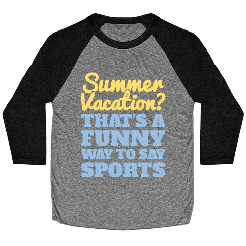 Summer Sports Baseball Tee