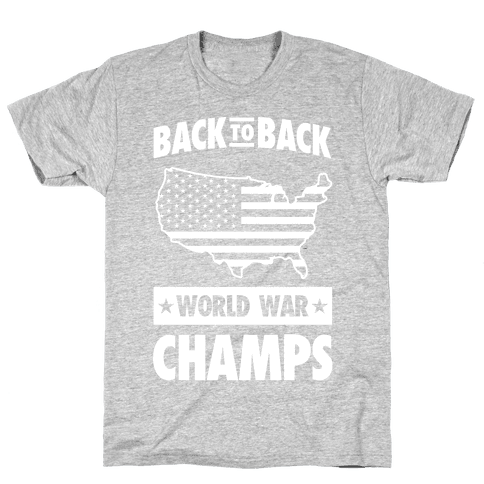 Back to Back World War Champs (light print) Mens T-Shirt
