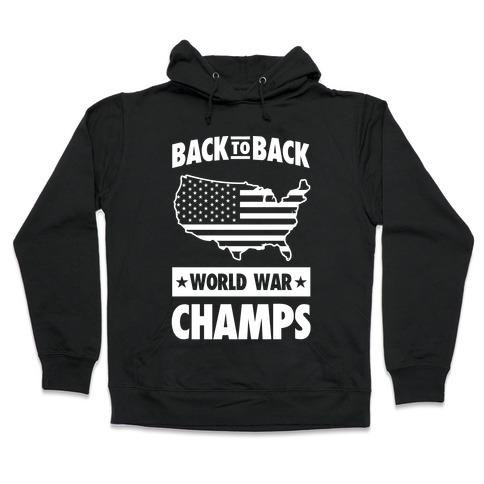 america back to back world war champs hoodie