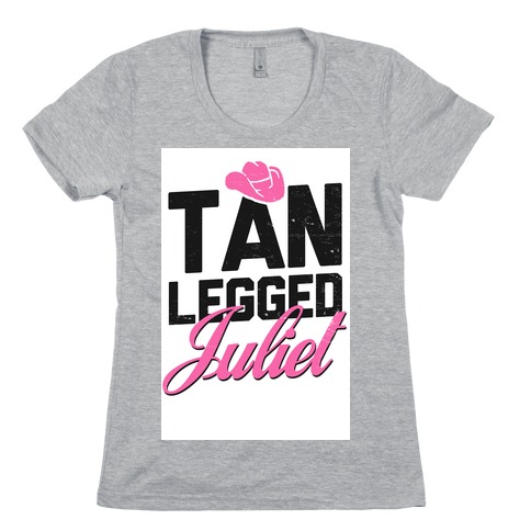 Tan Legged Juliet Womens T-Shirt