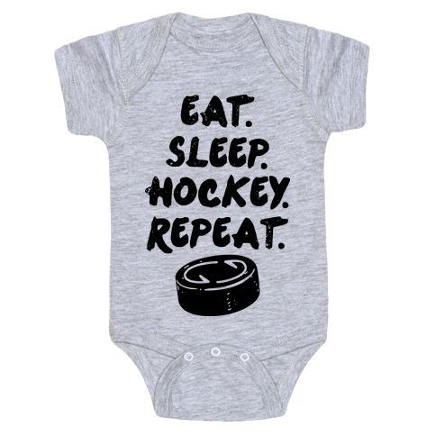 Eat Sleep Hockey Baby Onesy
