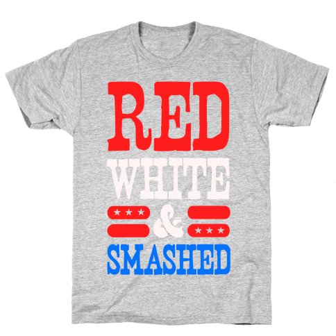 Red White and Smashed! Mens T-Shirt
