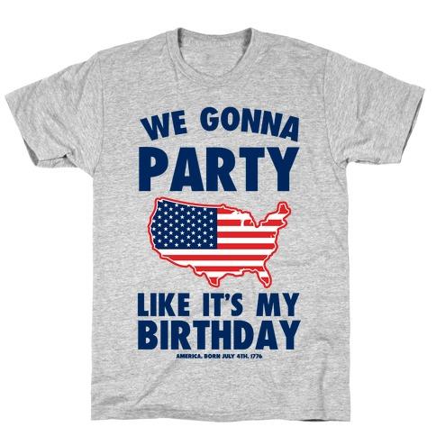 Merican Birthday Party Mens/Unisex T-Shirt