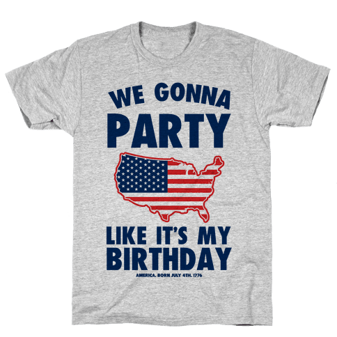 Merican Birthday Party Mens/Unisex T-Shirt