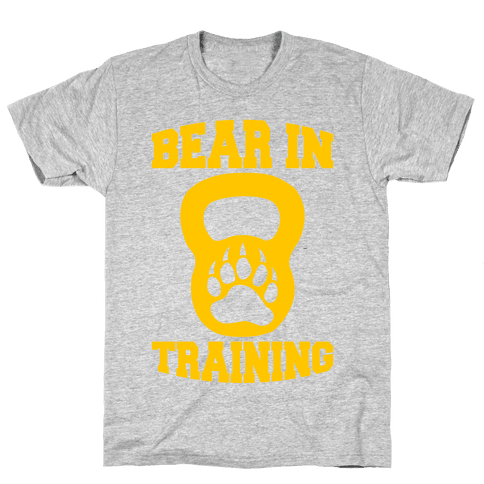 Bear In Training Mens T-Shirt