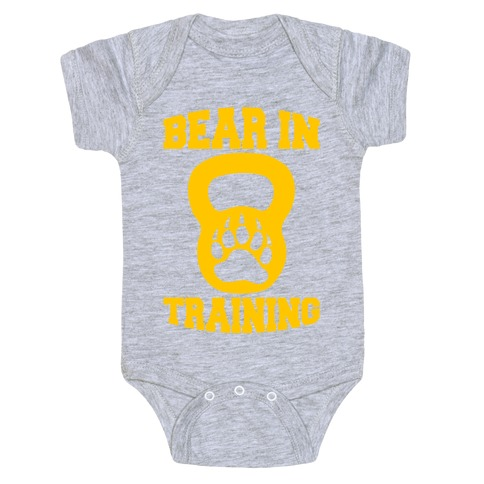 Bear In Training Baby Onesy