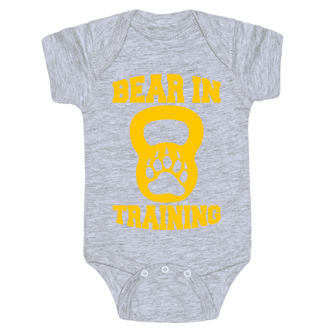 Bear In Training Baby Onesy
