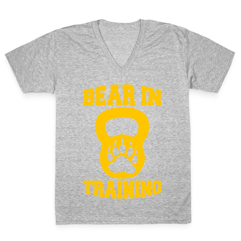 Bear In Training V-Neck Tee Shirt