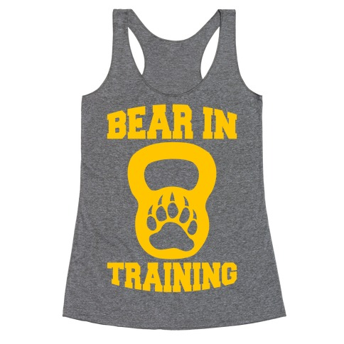 Bear In Training Racerback Tank Top