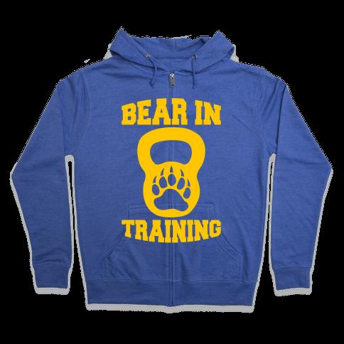 Bear In Training Zip Hoodie