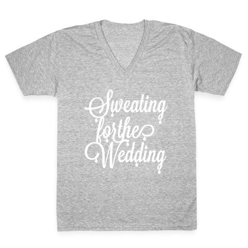 Sweating for the Wedding (Dark Tank) V-Neck Tee Shirt