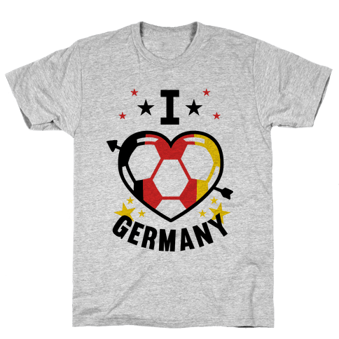 I Love Germany (Soccer) Mens T-Shirt