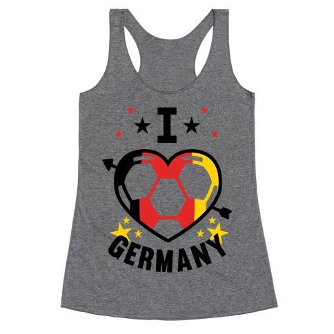 I Love Germany (Soccer) Racerback Tank Top