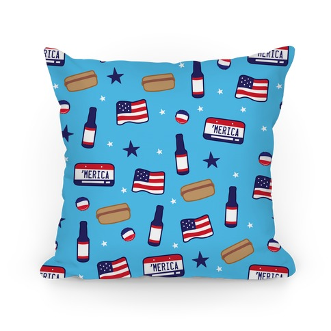 Americana Pattern Pillow