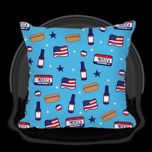 Americana Pattern Pillow