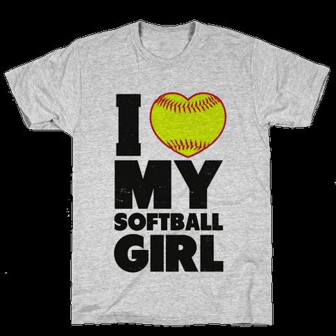 I Love My Softball Girl (Baseball Shirt)