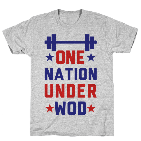 One Nation Under WOD Mens T-Shirt