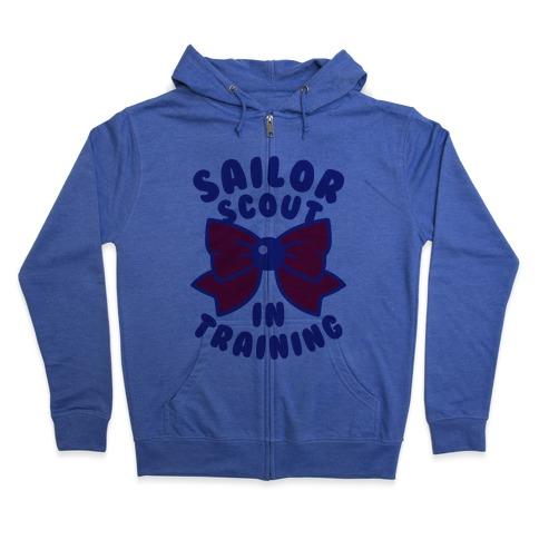 Sailor Scout In Training (Mars) Zip Hoodie