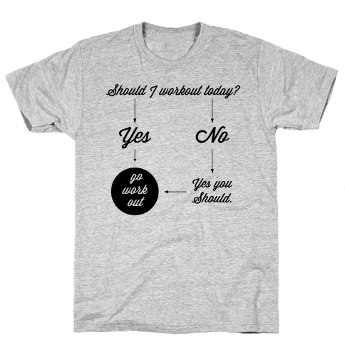 Should I Workout Today? Mens T-Shirt