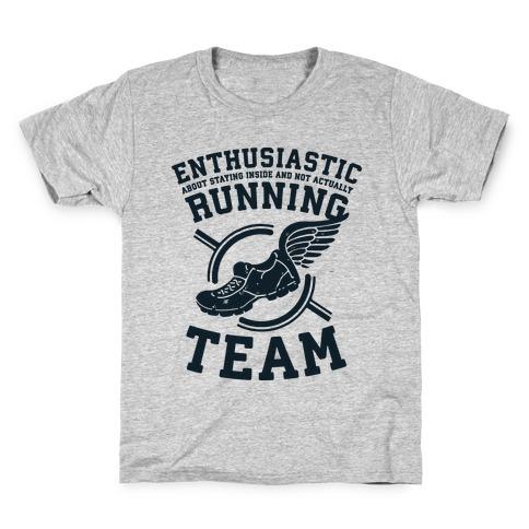 Enthusiastic Running Team Kids T-Shirt
