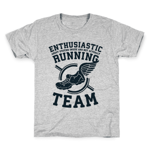 Enthusiastic Running Team Kids T-Shirt
